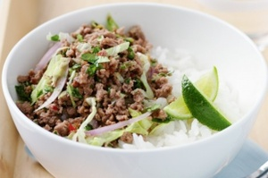 Thai Style Turkey Mince with Rice