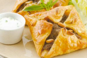 Beef, Mint and Feta Open Pies